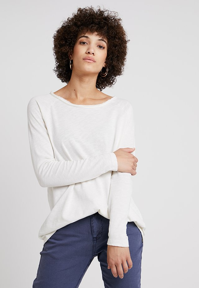 ESSENTIAL HEAVY SLUB - Long sleeved top - white