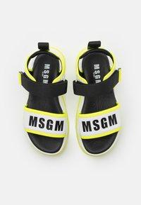 MSGM - UNISEX - Sandals - white/neon yellow - 3