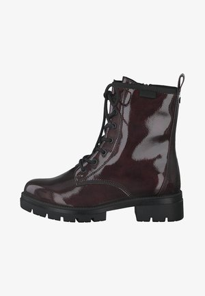 Lace-up ankle boots - bordeaux pat.