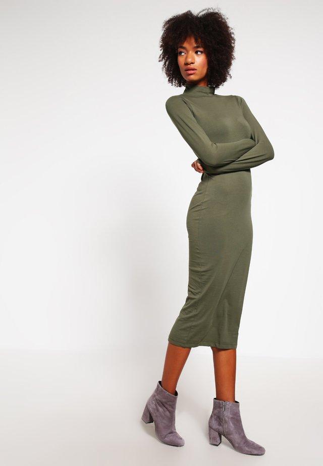 Jersey dress - olive