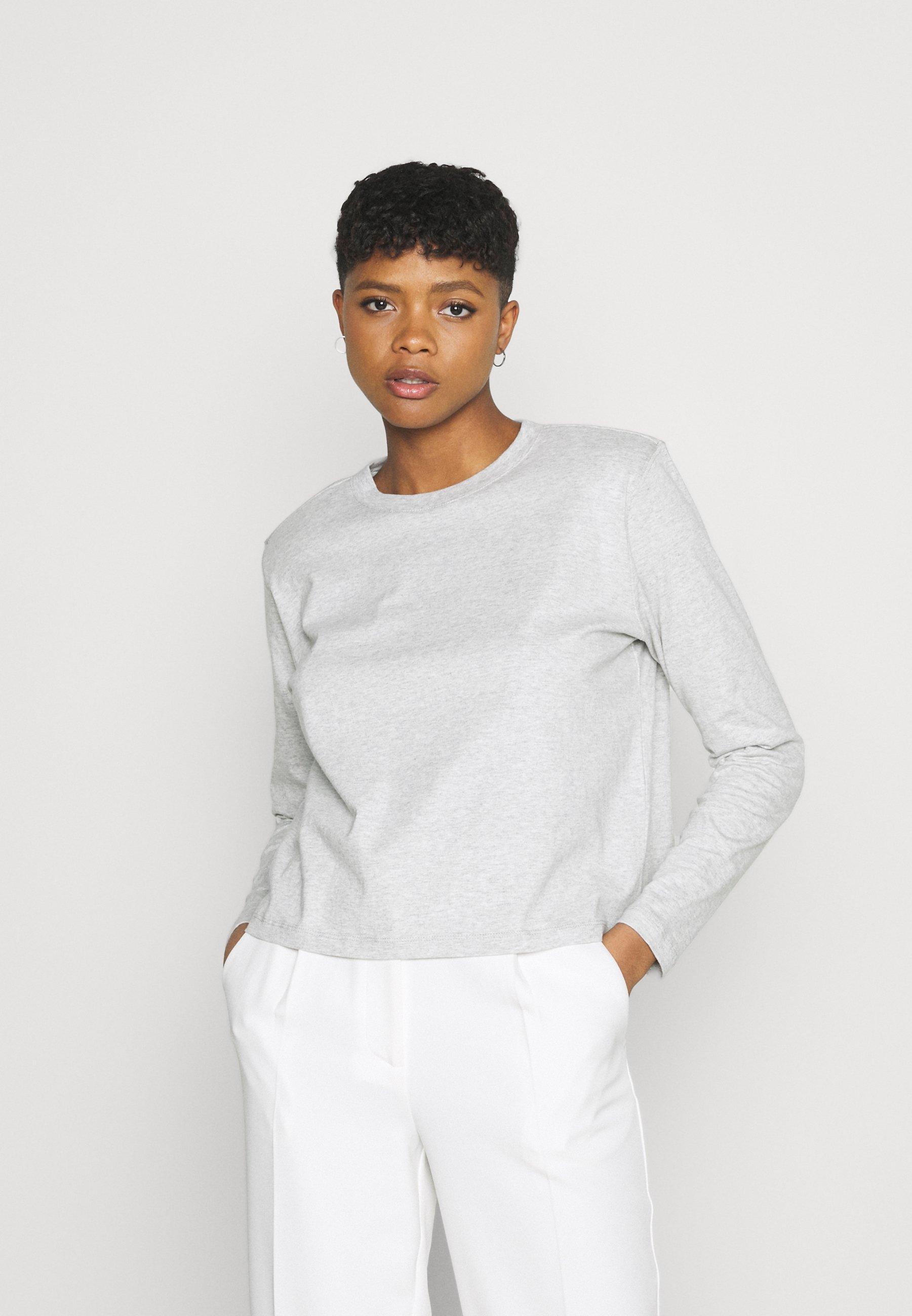 Women PADDED SHOULDER SLEEVE - Long sleeved top