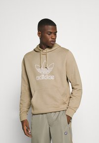 adidas Originals - HOOD OUT - Hoodie - khaki - 0