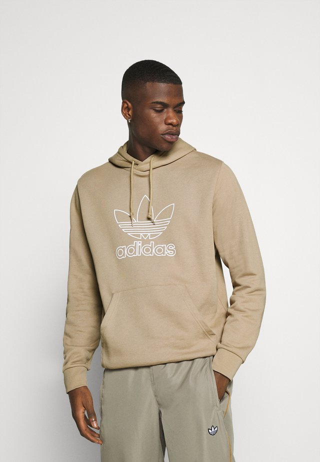 HOOD OUT - Jersey con capucha - khaki