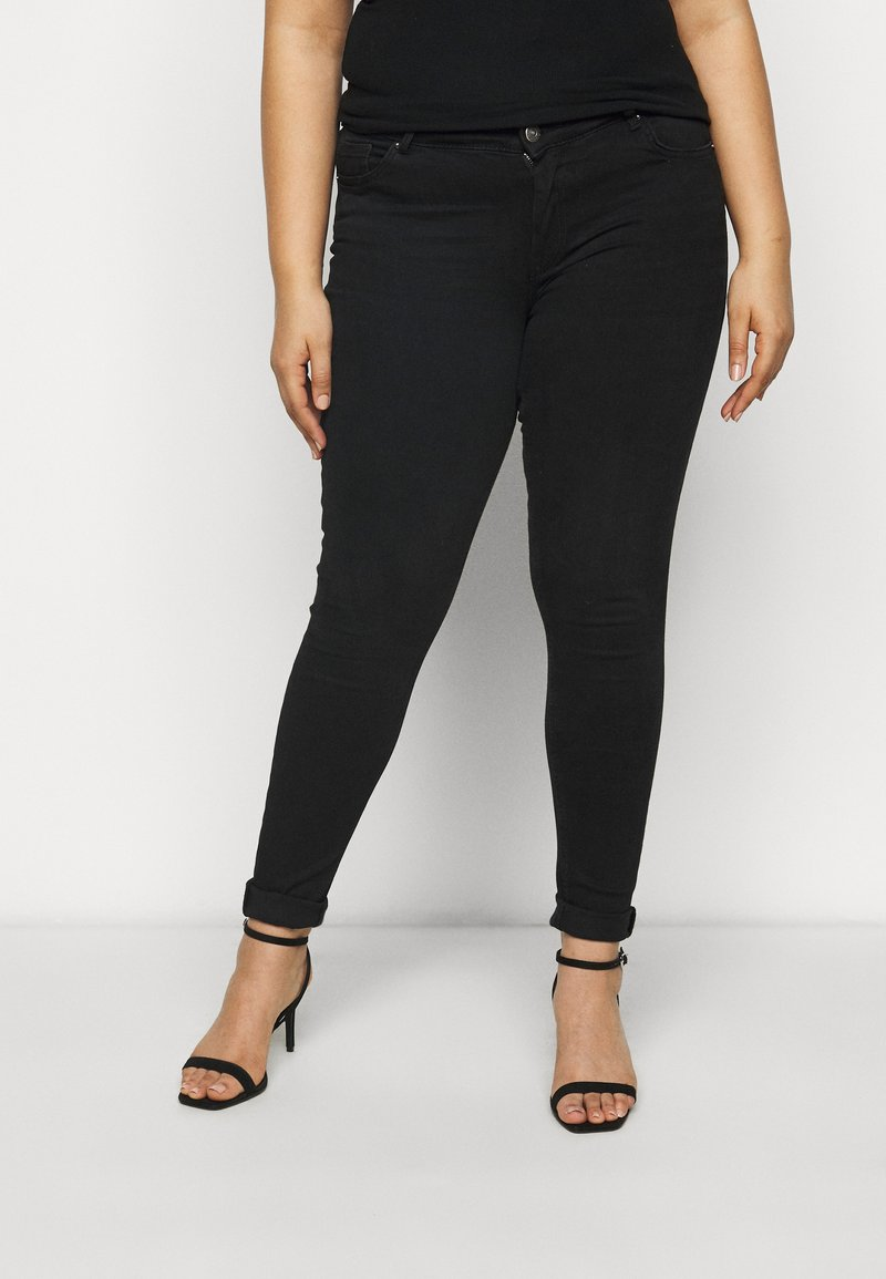 Pieces Curve - PCDELLY - Jeans Skinny Fit - black