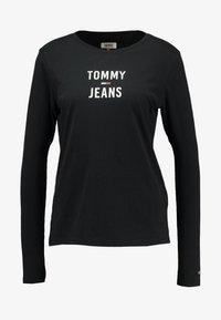 Tommy Jeans - SQUARE LOGO LONGSLEEVE - Long sleeved top - black - 4