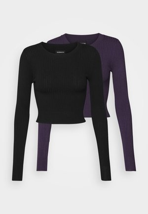 2 PACK - Jumper - black/lilac