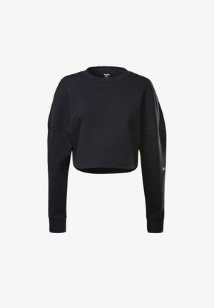 DREAMBLEND COTTON MIDLAYER HOODIE - Camiseta de manga larga - black