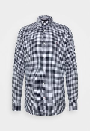 SLIM PEACHED SOFT GINGHAM  - Camisa - blue