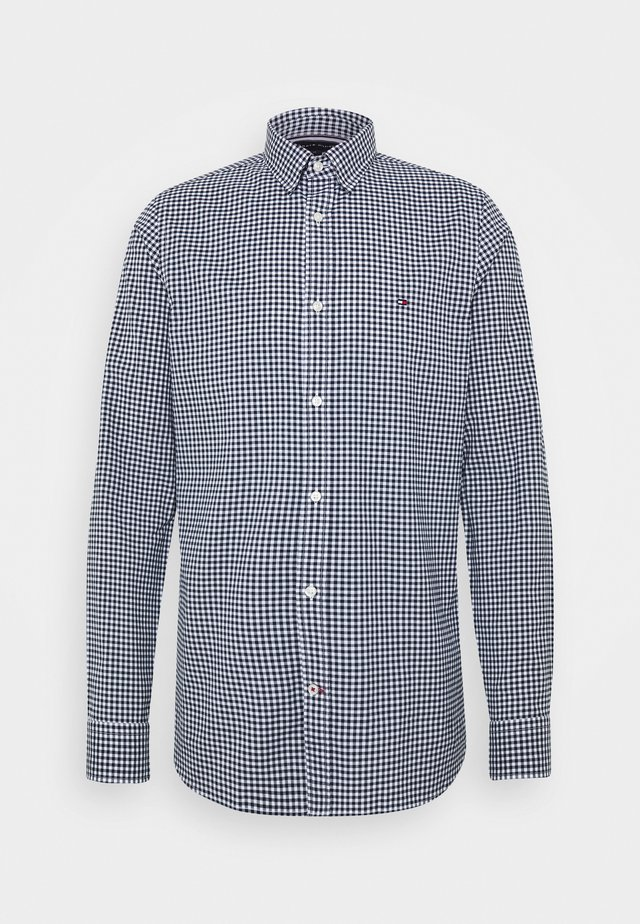 SLIM PEACHED SOFT GINGHAM  - Koszula - blue