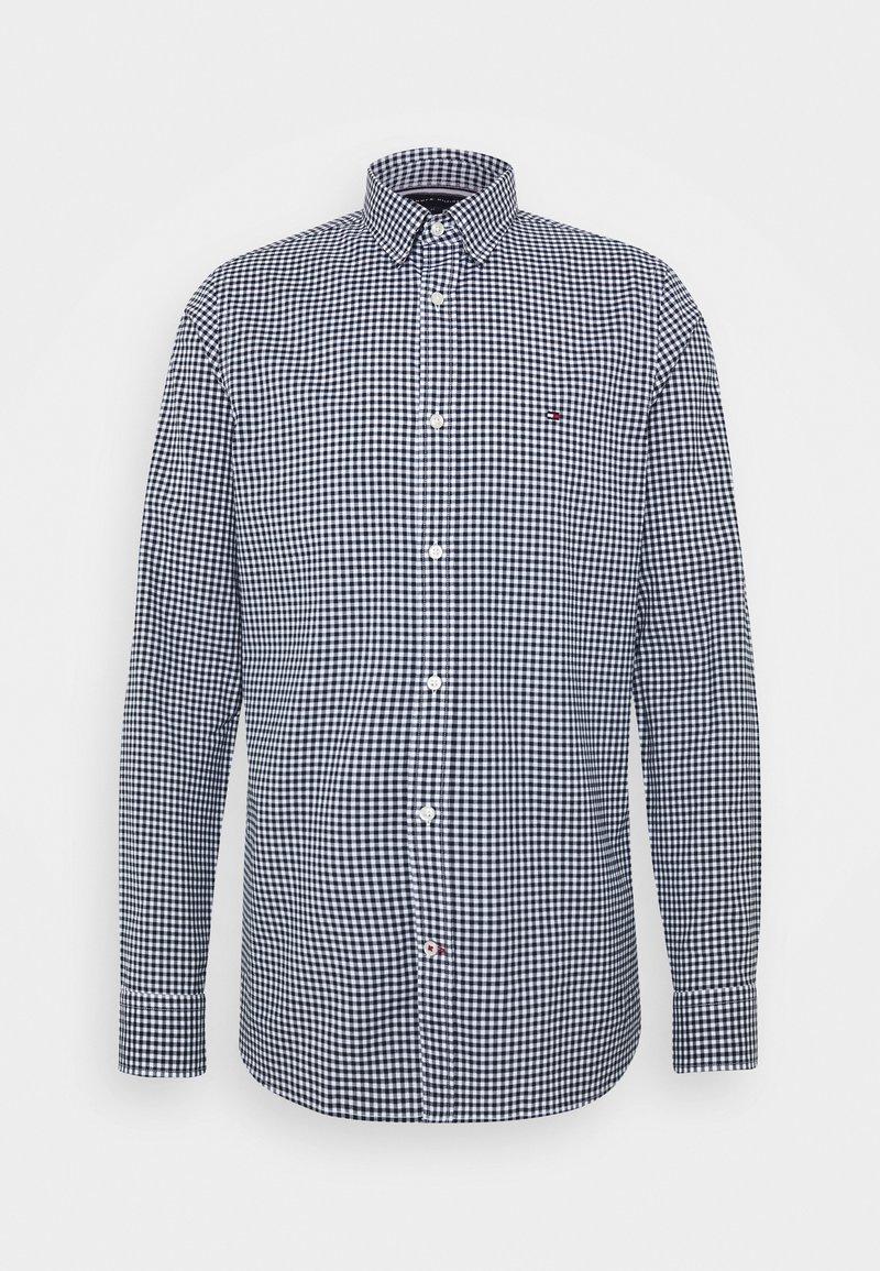 Tommy Hilfiger - SLIM PEACHED SOFT GINGHAM  - Shirt - blue