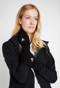 adidas Performance - TIRO FOOTBALL GLOVES - Guantes - black/white - 1