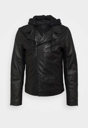 PERF - Giacca di pelle - black