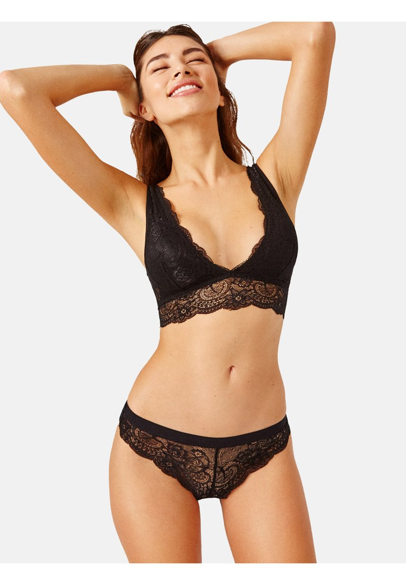 Black Limba - FLORAL LACE BRA REGINA BLACK - Triangle bra - black
