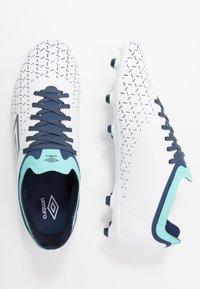 Umbro - VELOCITA V PREMIER FG - Scarpe da calcetto con tacchetti - white/medieval blue/blue radiance - 1