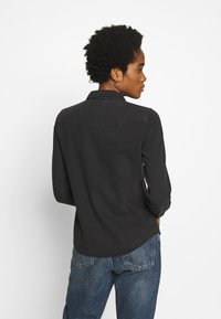 Vero Moda - VMMARIA SLIM  - Button-down blouse - black - 2