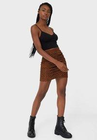 Stradivarius - Mini skirt - dark brown - 1