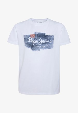 ALBERT - Print T-shirt - optic weiss