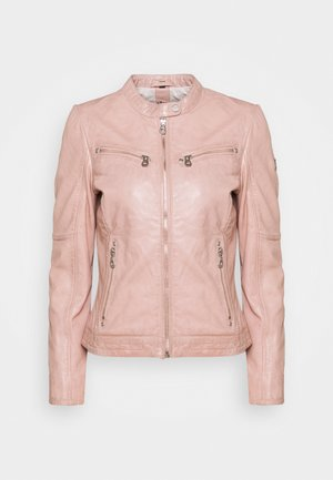 CHARLEE LAORV - Leather jacket - light rose