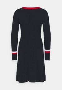 Tommy Hilfiger - WARM FIT & FLARE DRESS - Jumper dress - desert sky - 6