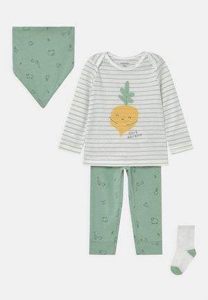VEGGIE SET UNISEX - Legging - light green/off-white