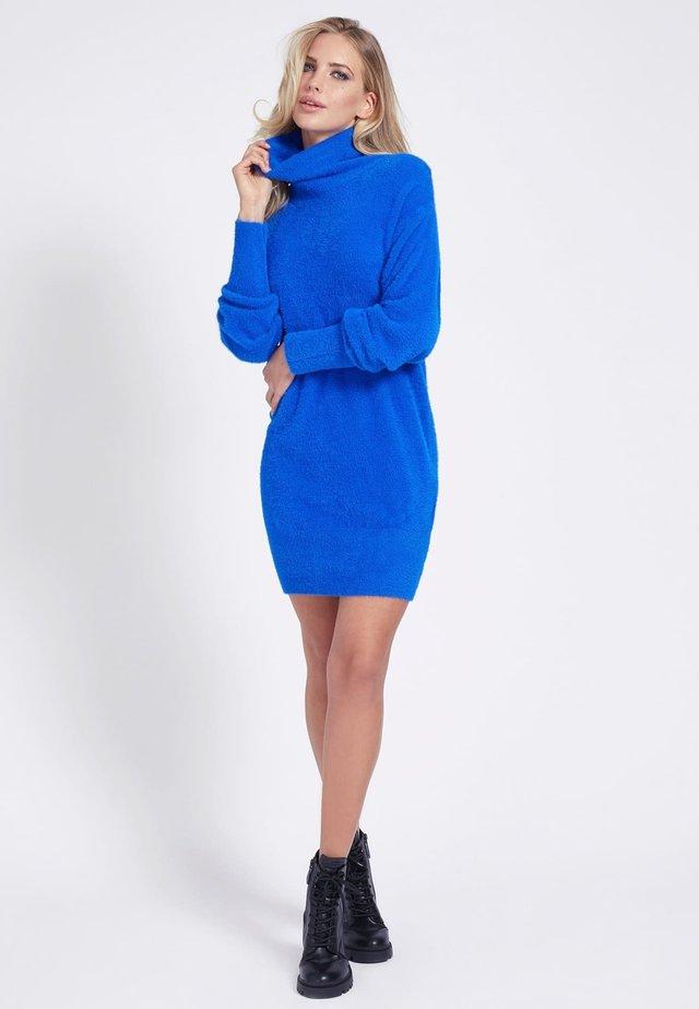 Strickkleid - blau
