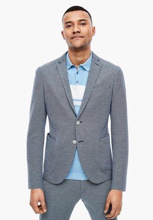 SLIM: COLBERT MET PIQUÉSTRUCTUUR - Blazer jacket - blue melange
