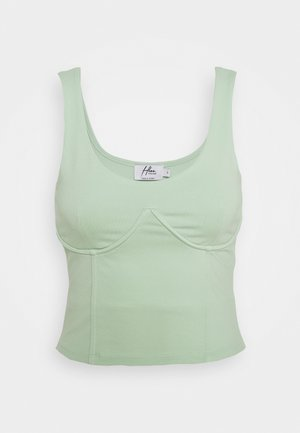 WIRE DETAIL SINGLET - Top - pastel green