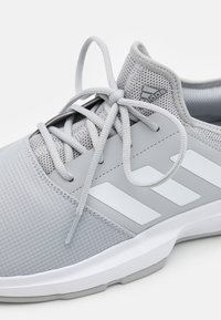 adidas Performance - GAMECOURT CLOUDFOAM - Multicourt tennis shoes - grey two/footwear white/silver metallic - 5