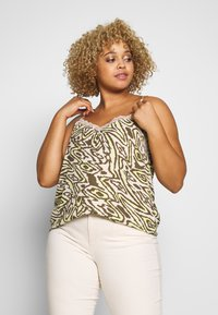 ONLY Carmakoma - CARTRIPLE SINGLET - Blouse - oatmeal - 0