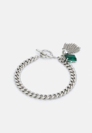STONE FLEX - Bracelet - silver-coloured/green