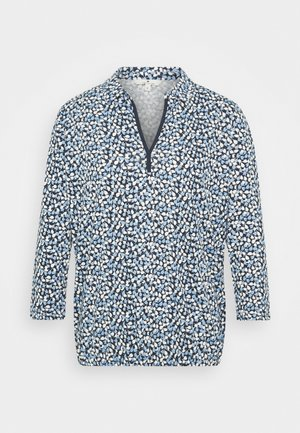 BLOUSE WITH COLLAR - Blus - navy blue