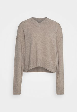 AMARIS V NECK  - Strikpullover /Striktrøjer - warm grey