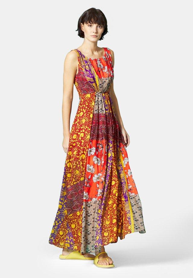 Vestito lungo - arancio-viola