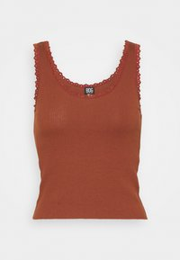 PICOT TRIMMED TANK - Top - mink brown