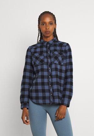 Button-down blouse - vintage indigo/black