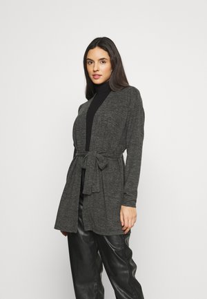 PCPAM - Cardigan - dark grey melange