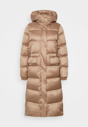 BIG PUFFER COAT FILLED - Down coat - camel