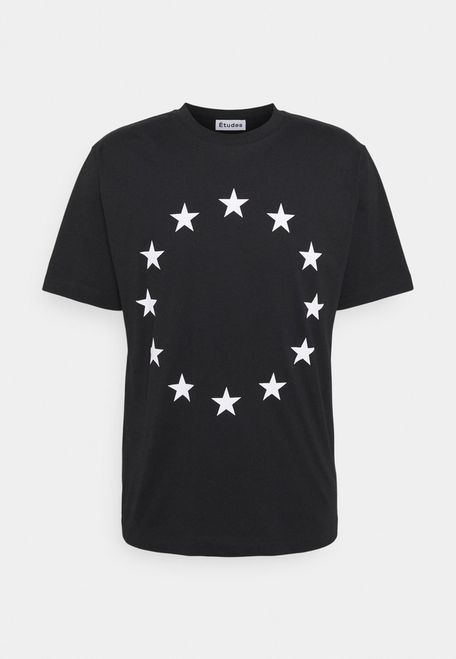 EUROPA - T-shirt imprimé - black