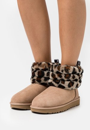FLUFF MINI QUILTED LEOPARD - Bottines - amphora