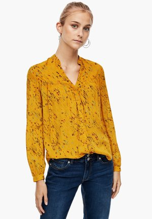 Blouse - golden yellow aop