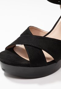 Dorothy Perkins - RADICAL STACKED 70S WEDGE - High heeled sandals - black - 2