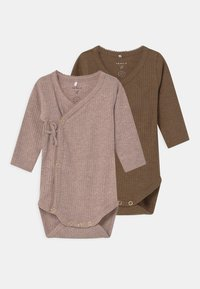 Name it - NBFFELLY WRAP 2 PACK - Body - desert palm/sphinx - 0