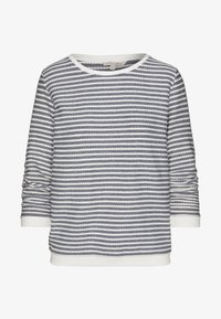 STRIPED JACQUARD - Long sleeved top - white