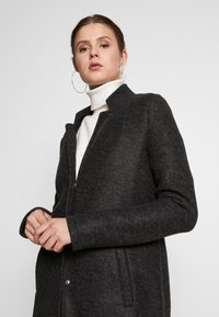 Vero Moda Tall - VMBRUSHEDKATRINE JACKET - Classic coat - dark grey melange - 3
