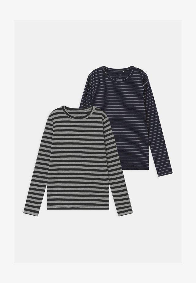 NKMVILLY SLIM 2 PACK - Long sleeved top - grey melange