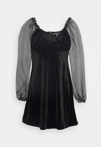 Missguided - COSTELLO PUFF SLEEVE SKATER DRESS - Cocktailkjole - black - 0