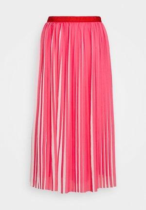 DEE SKIRT STRIPED - A-line skirt - fuchsia/ivory