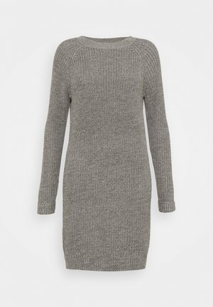NMSIESTA ONECK DRESS TALL - Gebreide jurk - medium grey melange