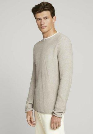 Sweatshirt - olive grey melange mouline