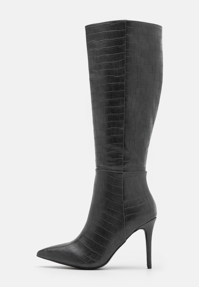 PRESIDENT - High heeled boots - grey
